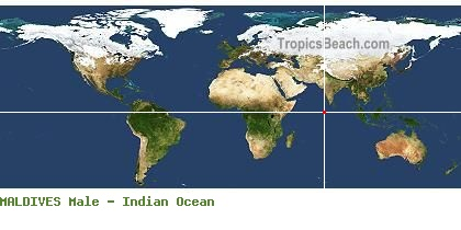 Maldives And Male Map With Gps Beach Latitude And Longitude